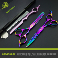 "6"" professional hair cutting shears set japanese hair cutting scissors barbor hair sissors razor hairdressing scissors bangs cut(China)"