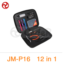 Buy JAKEMY 12 1 DIY Electronic Cigarette Kit Atomizer Coil Tool Bag Accessories Vape Hand Tool Set Srewdriver Plier Kit JM-P16 for $27.22 in AliExpress store