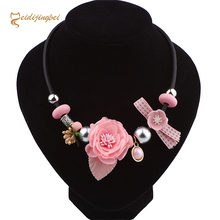 Korean women fashion simple flowers necklace summer new wild retro handmade cloth collar to buy on behalf of a