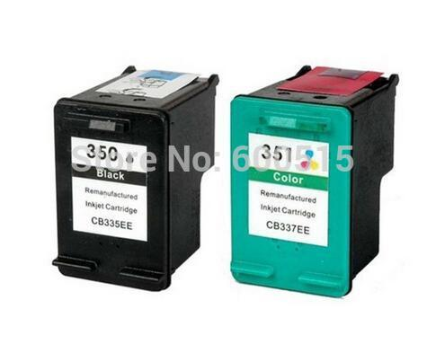 2pcs Compatible ink cartridge HP350 HP351 for Photosmart C4380 4480 4580 4270 4275 4483 5283 4348 5275 4210 4272 5273 4283 4345 <br><br>Aliexpress