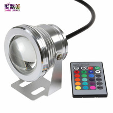 Outdoor lighting 10W 12V underwater swimming pool light,RGB led piscina pond fish tank aquarium waterproof changeable bulb IP68(China)