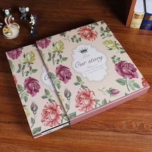 2017 new beautiful insert Photo album 5 inch 6 inch 7 inch specials children baby growing wedding family large photo album(China)