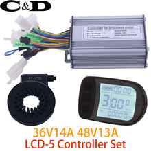 Free Shipping 36V 250W 48V 350W Controller LCD LCD5 display PAS Set E-bike and E-bike Conversion kit Hall Sensorless Compatible(China)