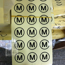 Stock printed clear PVC size label stickers, number tags,Garment size label Round paper size sticker Free shipping