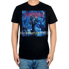 Suffocation Breeding the Spawn album cover men's black brutal death metal top T-Shirt(China)