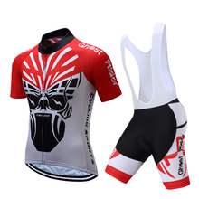 2017 Team sky Pro Cycling Jersey set Cycling clothing Breathable Mountain Bike Clothes Quick Dry Bicycle Sportswear Cycling Set(China)