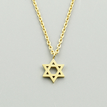 GORGEOUS TALE Christmas Gift Stainless Steel Layering Choker Star Of David Pendant Necklace Women Vintage Jewelry Collier Femme(China)