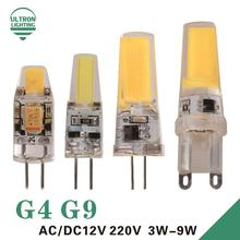 LED G4 G9 Lamp Bulb AC/DC 12V 220V 3W 6W 9W COB SMD LED Lighting Lights replace Halogen Spotlight Chandelier