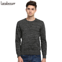 High-grade 2017 New Autumn Winter Fashion Brand Clothing Men's Sweaters Solid Color Slim Fit Men Pullover Knitted Sweater Men(China)