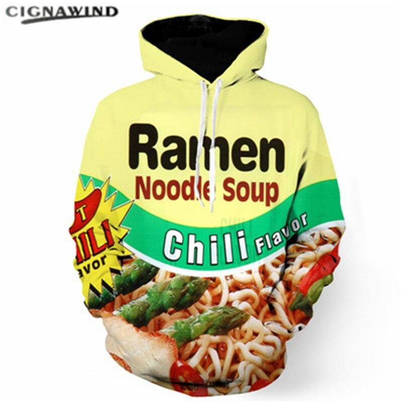 2019 New Ramen Noodle Mens Hoodies 3d Print Hoodie Men Women Funny