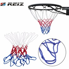 1pc thick 5mm Red White Blue Basketball Net Nylon Hoop Goal Rim Mesh Net Hot Sale Free shipping(China)