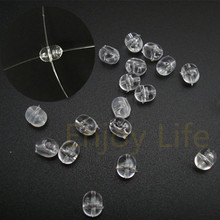 1000* 4*4.5mm/4.7*6mm/5*8mm Fishing Plastic Transparent Clear Beads Double Pearl Drill Beads Cross Beads(China)