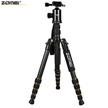 100% Original Zomei Z699C 59.4 Inches Lightweight Professional Camera Video Carbon Filter Tripod with Bag Built-in Spirit Level(China)