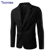 2017 New Business Casual Blazer Men Single Button Brand Clothing Blazer Masculino Slim Fit Costume Homme Cool Men Blazer Designs