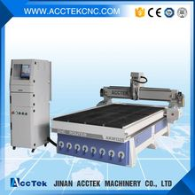 Jinan AccTek 380V 5.5Kw Spindle 1325 With Mach3 Remote Control Vacuum Table Dust Collector Wood CNC Router