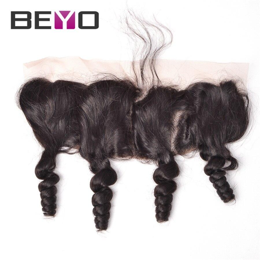 Brazilian Curly Human Hair Lace Frontal Closure Brazilian Loose Wave Virgin Hair Ear to Ear Lace Frontal Closure With Baby Hair <br><br>Aliexpress