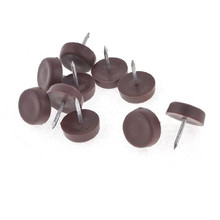 New 18mm  Practical Rubber Brown Table Chair Leg Foot Covers Floor Protector 1 Pcs Free shipping