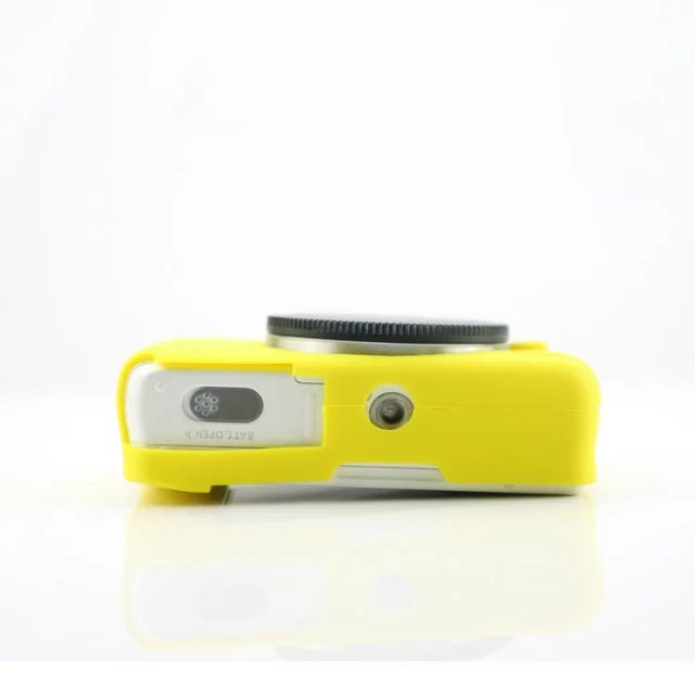 CAOMING Soft Silicone Protective Case for Canon EOS G7 X Mark II Durable Color : Yellow