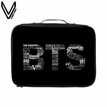 VEEVANV 2017 Korean Style BTS Travel Bags Waterproof Aircraft Bag Casual 3D Prints Travel Totes Large Hand Luggage For Clothes(China)