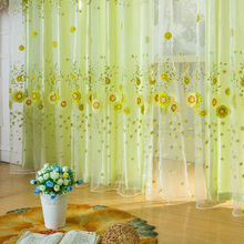 New Door Window Scarf Sheer Floral Curtain Drape Panel Voile Valances, voile curtains,Tulle on the window,curtain voileE5M1