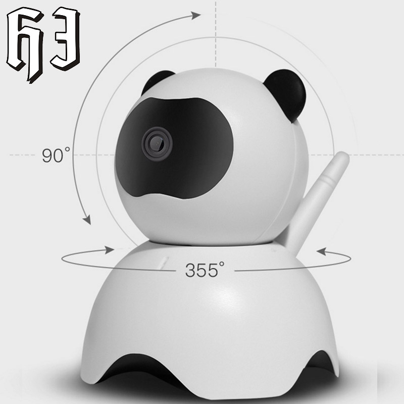 Panda 1.3MP IP Camera Smart Robot 960P HD WIFI Wireless Two Way Audio Indoor Night Vision Wi-fi Network Baby Monitor Security<br>