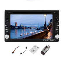 HOT Promotion! Double 2DIN In dash Car PC Stereo Radio 6.2'' HD Bluetooth Car DVD CD Video Player Touchscreen Car Audio Headunit