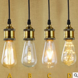 Golden Industiral Lamp Vintage Pendant Light With Edison Bulb In America Country Loft Style,Pendentes Luz<br><br>Aliexpress