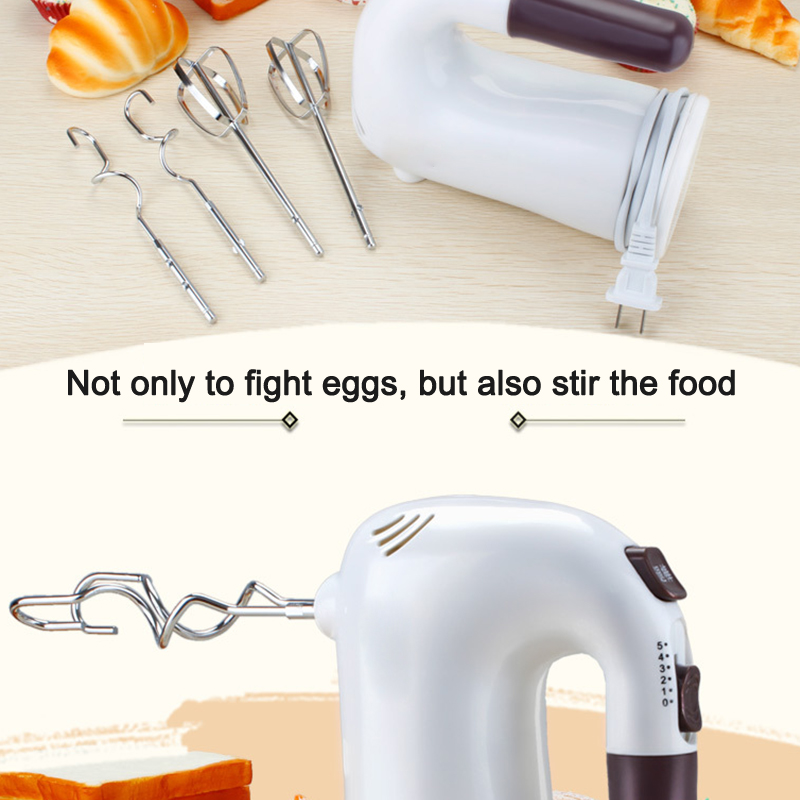 Electric Beater Home Automatic Mixer Baking Cake Play Cream Handheld High Power Egg<br>