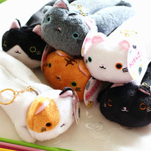 Japanese Style Cute Kawaii Varied Color Cat Pencil Canvas Case Stationery Storage Organizer Bag School Office Supply Escolar(China)