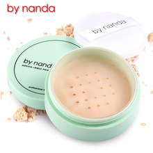 By Nanda 3 Color Translucent Pressed Powder with Puff Smooth Face Powder Makeup Foundation Waterproof Loose Powder Skin Finish(China)