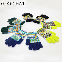 Magic gloves Stretchy cartoon Mittens Children Girls Boys Kids Knitted Gloves Winter Warmer 4 color(China)