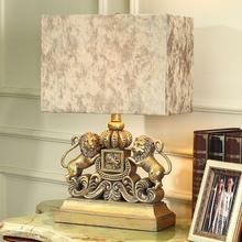 TUDA Lion Amerikanischer Tischlampe Fr Schlafzimmer Nachttischlampen Dekoration Ideen Europischen Stil Luxus Wohnzimmer Lampen Und Laternen