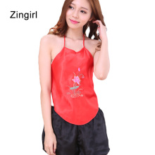 Zingirl embroidery elegant sexy sleepwear chinese style vintage sleep clothings backless luxury sexy vintage pijama pyjama mujer(China)