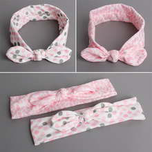 Comfortable Skin Care Korea Cotton Bowknot Princess Headbands Children Headwear Girls Elastic Hair Band Kids Hair Accessories