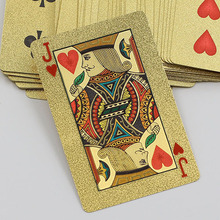 New High Grade 24K Gold Foil Poker Lattice Grid Pattern Playing Cards