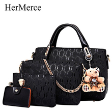 Buy HerMerce 4 Bags Set Luxury Handbags Women Bags Designer Shoulder Bags Female Bag Women Leather Handbags Bolsa Feminina 7305 for $19.63 in AliExpress store