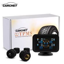 CARCHET TPMS Dvd Tyre Pressure Monitoring Intelligent System +4 External Sensors LCD Sucker tpms for car dvd Tire Pressure Alarm(China)