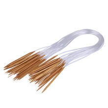New 18 Sizes 2.0mm-10.0mm 80cm Sweater Bamboo Smooth Finish Craft Circular Knitting Needles Set