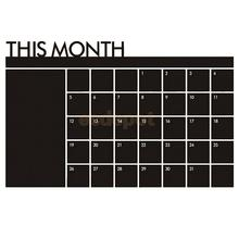 Monthly Planner Memo Chalkboard Blackboard Wall Decal Sticker Mural Decor Month Plan Calendar Schedule(China)