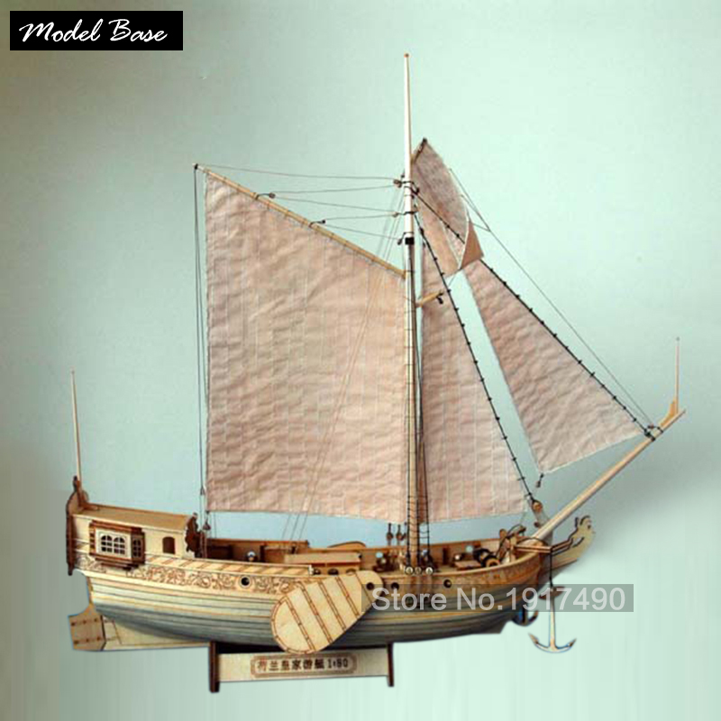 Ship Model Kit Train Hobby Wooden Ship Model 3d Laser Cut Scale 1/80 Royal Netherlands Yacht And Boats Diy Yacht Model Kits(China)