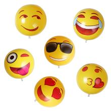 1Set=6Pcs x Cute Emoji Inflatable Beach Balls Children Adult Summer Party Water Fun Pool Toys For Kid