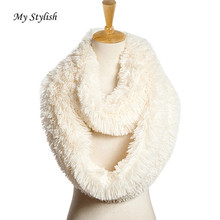 My Stylish Womens Blend Circle Collar Scarf Shawl Collar Wrap Stole Scarve Solid Color Winter Warm Hat Cap ne Hot Sale Nov 14