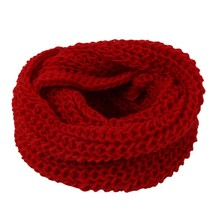 New Style Unisex Winter Knit Wool Scarves Necklaces Neck Warmer Woman Loop Scarf