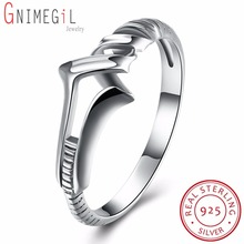 Authentic 925 Sterling Silver Twisted Ring Wedding Bands Engagement Fashion Original Jewelry with USA Size 6 7 8