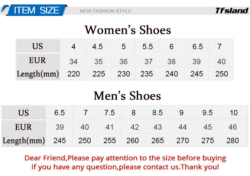 3G shoes size
