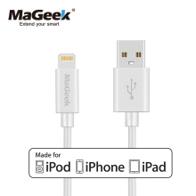 MaGeek 1.8m/6ft Long Mobile Phone Cables MFi Lightning to USB Cable for iPhone 7 7 Plus 6 6s 5 iPad 4 mini Air iOS 8 9 10(China)