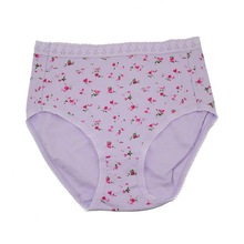 New Arrivals High Waist Comfortable Women's Panties Cotton Briefs Flower pregnant women Underwear  Plus size S M L XL XXL