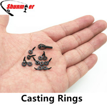 SHUNMIER 12pcs Micro Fishing Guide Rings Casting Ceramic Rod Rings for Repair DIY Repairing Rod Tips Carp Fishing Accessories(China)