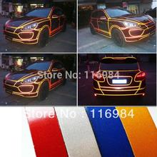 high quality DIY reflective car stickers 1meter/luminous body decoration light Super light body reflective tape 1.5cm* 1Meter