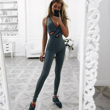 YD 2017 One Piece Women Yoga Set Sexy Sport Suit Fitness Tights Compression Yoga Clothing Workout Sportswear Suit Tracksuit Set